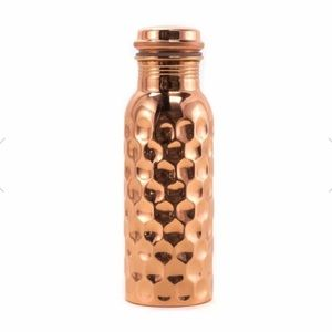 NEW Hammered Copper Water Bottle Handmade India
